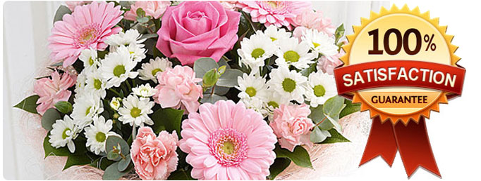 100% customer satisfaction of all our flower products in London